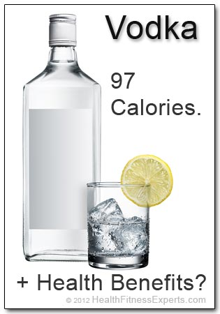 Vodka: 97 calories plus health benefits