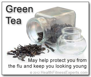 Green Tea May Prevent the Flu and Fight the Aging Effects of the Sun