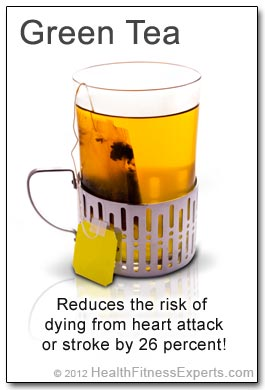 Green Tea Reduces Risk of Heart Disease