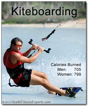 Kiteboarding is a great workout with a solid calorie burn.