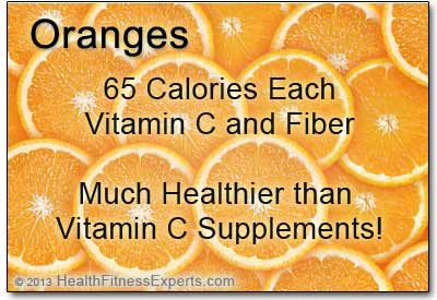 65 Calories in an Orange