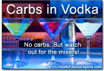 Carbs in Vodka: Zero.